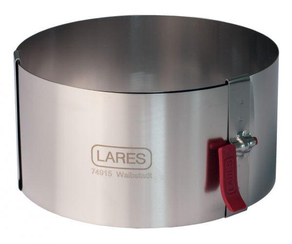 Tortenring mit Klemmhebel Ø 10-18 cm, 10 cm hoch