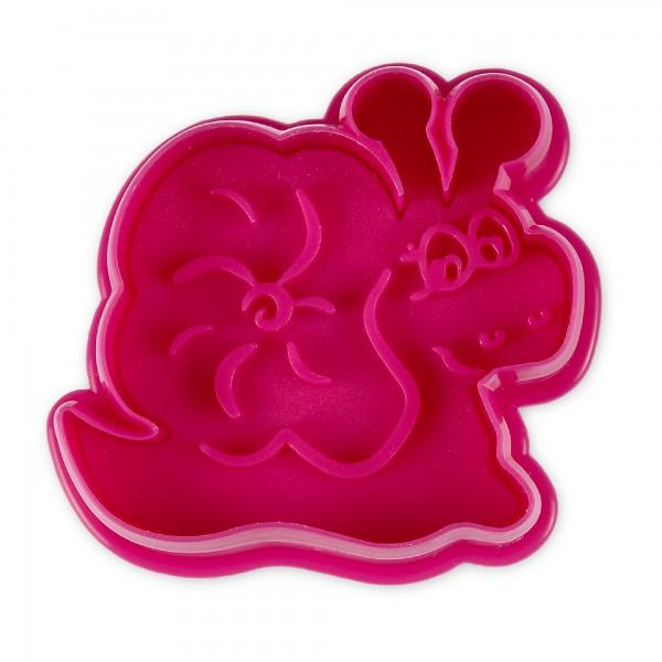 Schnecke ca. 6,5 cm Pink