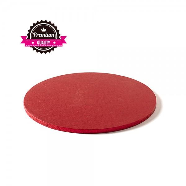 Runde Tortenplatte rot 25 cm rund, 12 mm dick