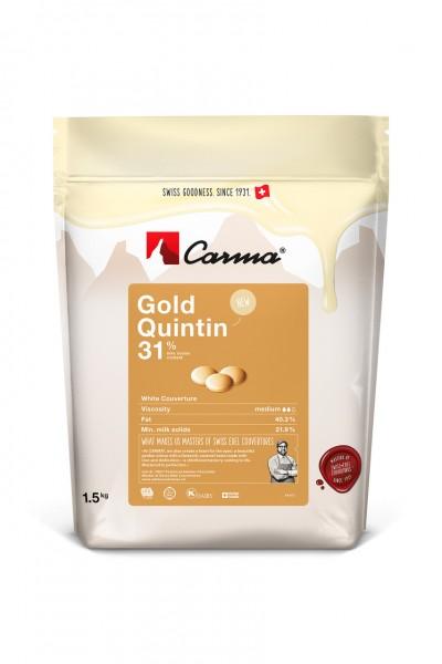 Carma Kuvertüre Gold Quintin - 250g Beutel - NEU -