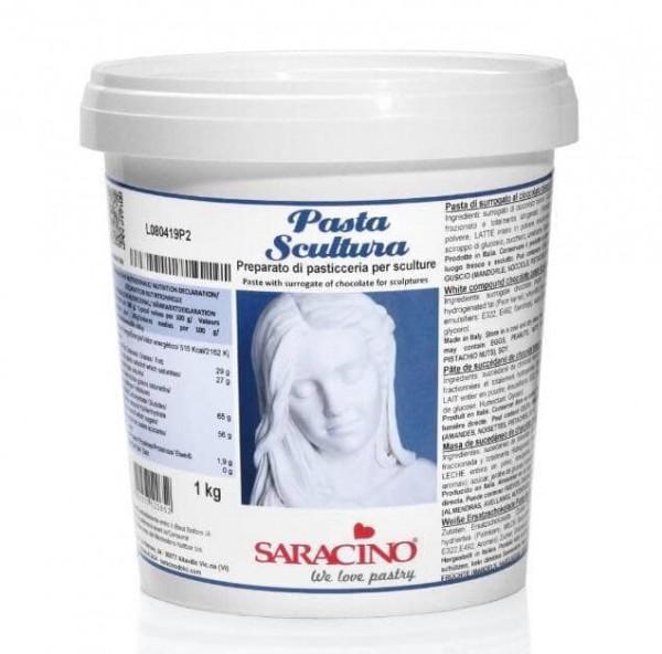 Modelliermasse Pasta Scultura weiß 1 kg - Neu von Saracino -
