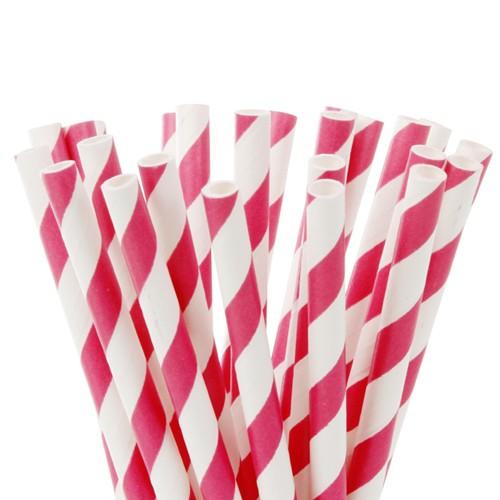 Lollipop Sticks gestreift fuchsia pink