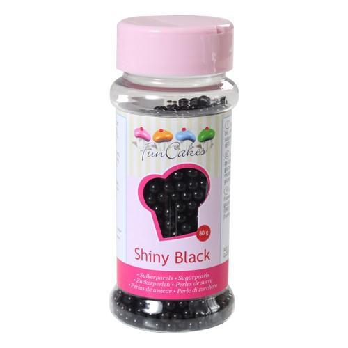Zuckerperlen Shiny Black 4 mm