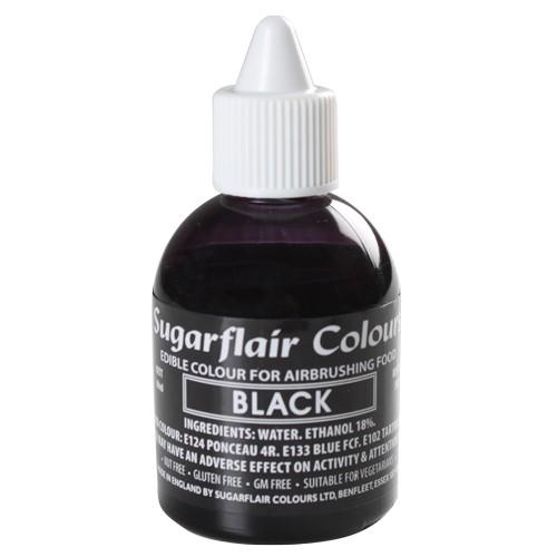 Sugarflair Airbrush Lebensmittelfarbe schwarz 60 ml