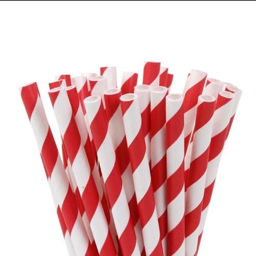 Lollipop Sticks gestreift rot