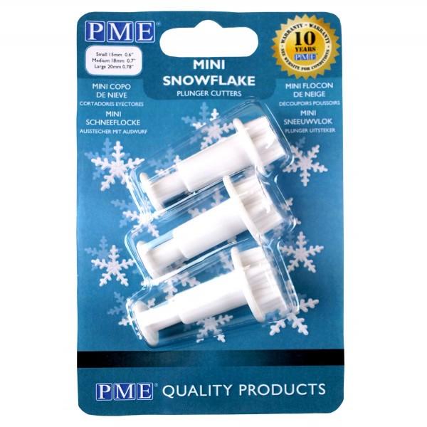 PME Ausstecherset Mini-Schneeflocken