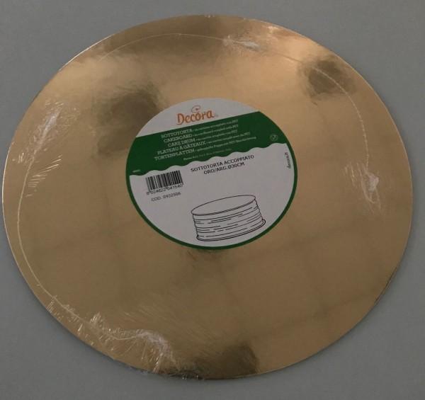 Tortenunterlage 30 cm, 2mm, gold/silber, einzeln verpackt