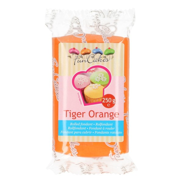 FunCakes Fondant tiger orange 250 g - NEU -