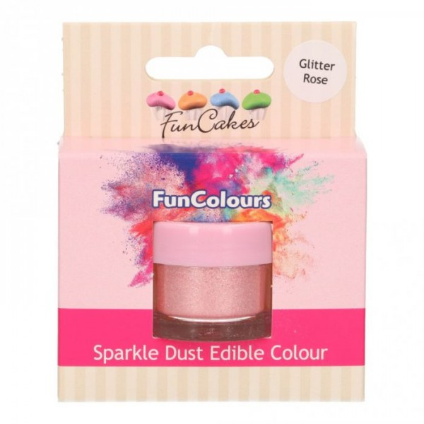 FunColours Glanzpuderfarbe - Glitter Rose
