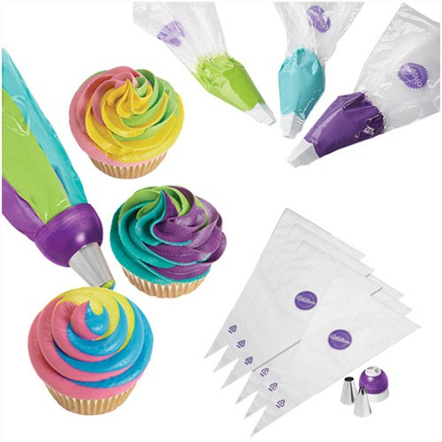 Wilton ColorSwirl Tri-Color Coupler Decorating 9-teiliges Set