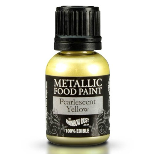 RD Metallic Food Paint Pearlescent Yellow 25ml