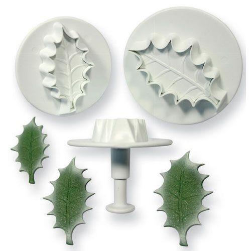 Ausstecher-Set Stechpalme / Holly Leaf 3-telig extra groß