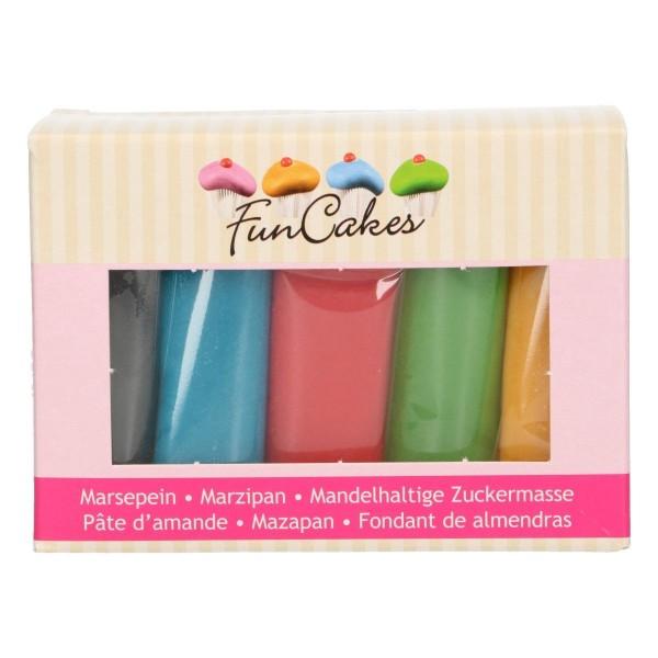 FunCakes Marzipan Multipack Grundfarben 5 x 100g