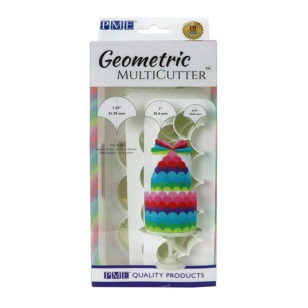 PME Geometric Multicutter Fischschuppen 3-er Set