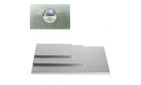 Tortenplatte rechteckig silber 35 x 45 cm, 12 mm dick