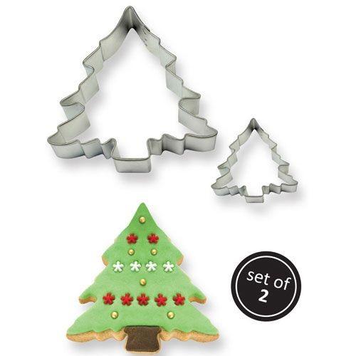 Ausstecher Weihnachtsbäume 2er Set