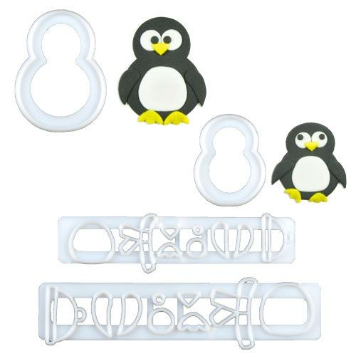 FMM Mama & Baby Pinguin Ausstecher-Set