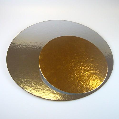 Tortenunterlage 1 mm silber/gold 26 cm Durchmesser