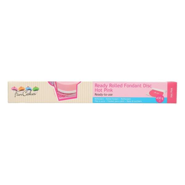 FunCakes fertig ausgerollte Fondantdecke rund 36 cm hot pink - NEU!!