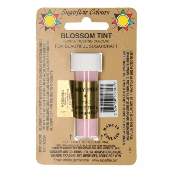 Sugarflair Dusting Colour BABY PINK, 7ml