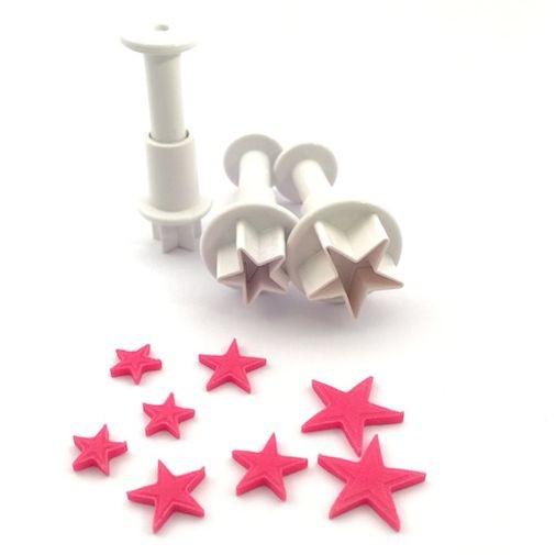 Mini Stern Ausstecher mit Auswerfer 3er Set