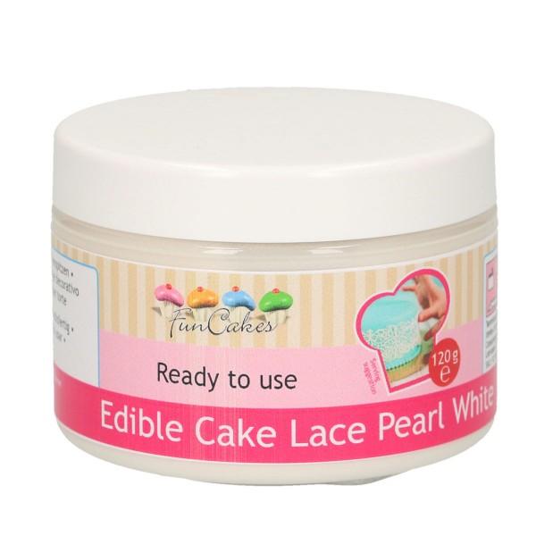 Essbare Spitze / Cake Lace perlweiß gebrauchsfertig