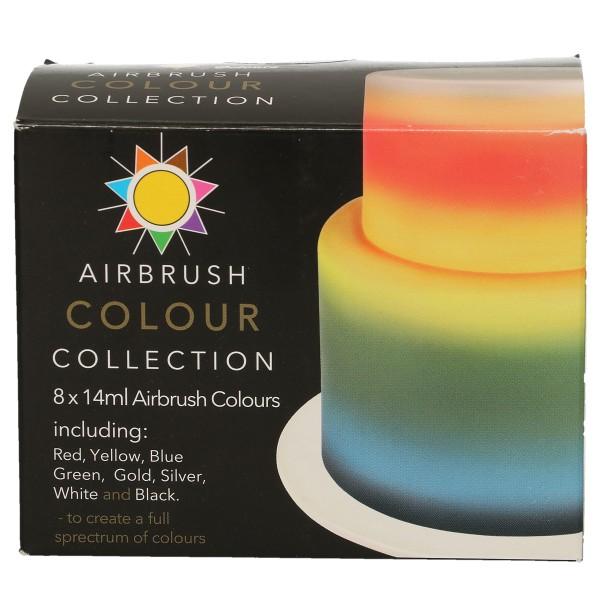 Sugarflair Airbrush Lebensmittelfarben 8 Farben Set