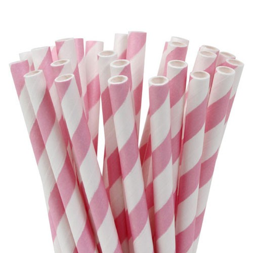 Lollipop Sticks gestreift rosa