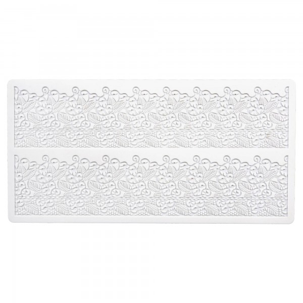 Romantik ca. 39,5 x 19,5 cm Weiß Silikon