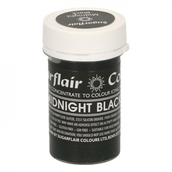 Sugarflair Speisefarben-Paste midnight black
