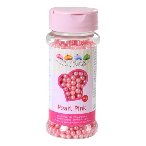 Zuckerperlen perlmutt pink 4 mm