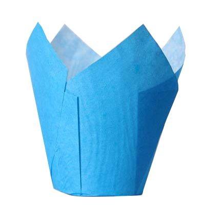 Muffinförmchen Tulpe blau, 36 Stück