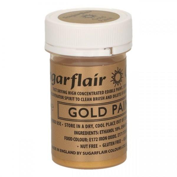Sugarflair Edible Matt Paint -Gold- 20g