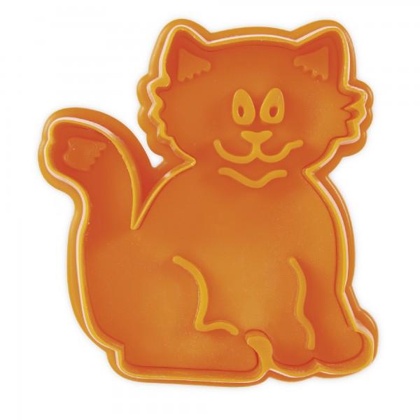 Prägeausstecher Katze ca. 6,5 cm mit Auswerfer