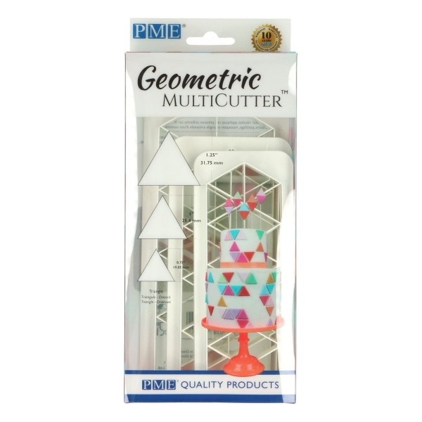 PME Geometric Multicutter Dreieck/Triangle 3-er Set