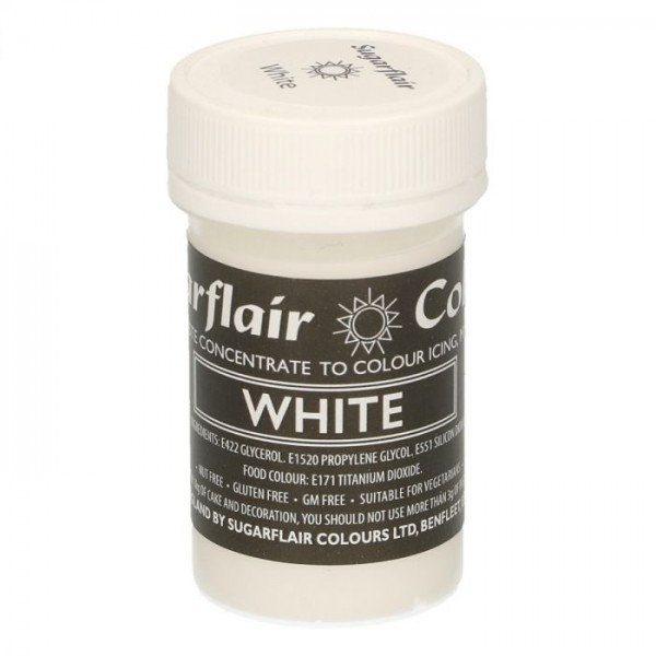Sugarflair Speisefarben-Paste Pastel WHITE