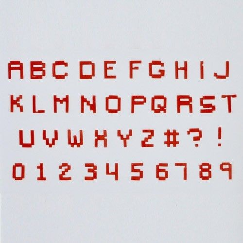 FMM Alphabet & Numbers Tappits Pixel Alphabet and Numbers
