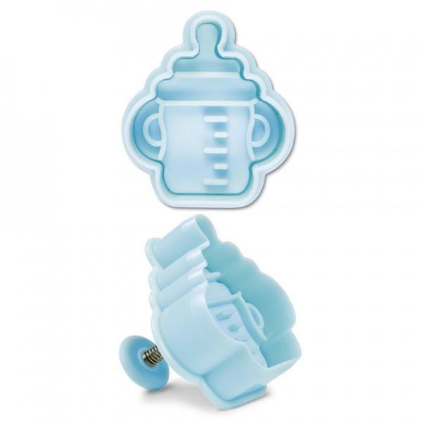 Babyflasche ca. 5 cm Hellblau