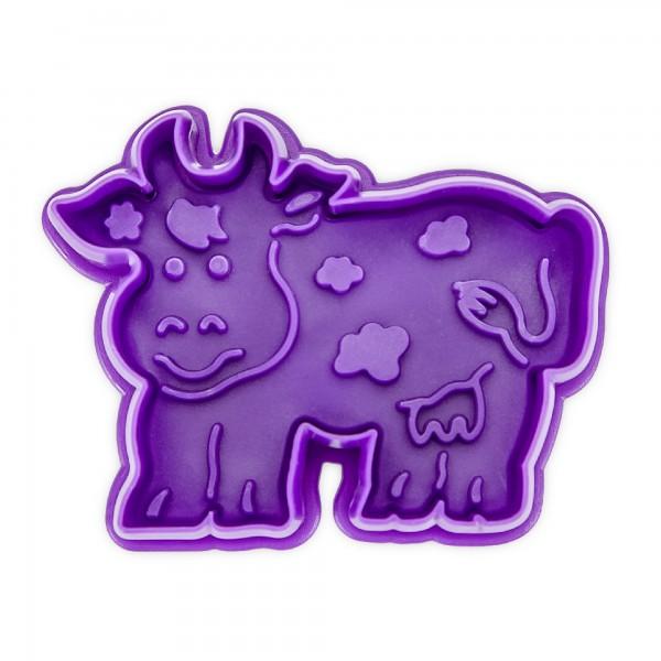 Prägeausstecher Kuh mit Auswerfer ca. 7 cm