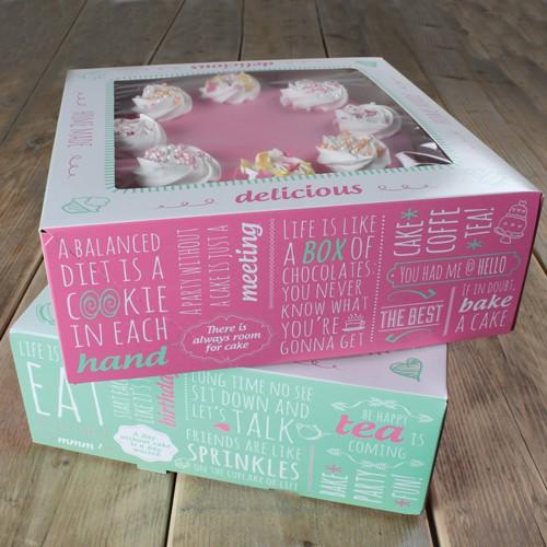 Tortenschachtel 26 x 26 cm, 12 cm hoch - 2er Pack