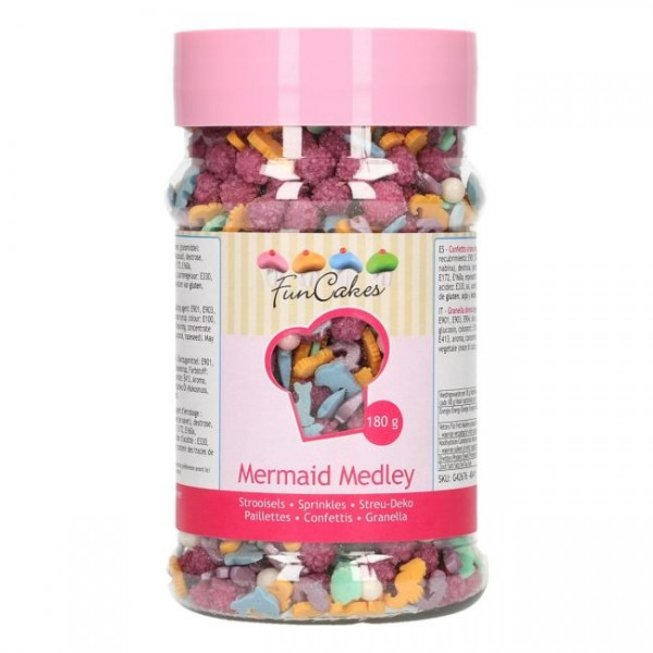 Zuckerdekor Meerjungfrauen Mix / Mermaid Medley 180 g