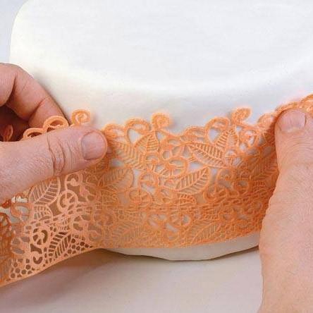 Essbare Spitze/Lace Form aus Silikon - Slim Baroc