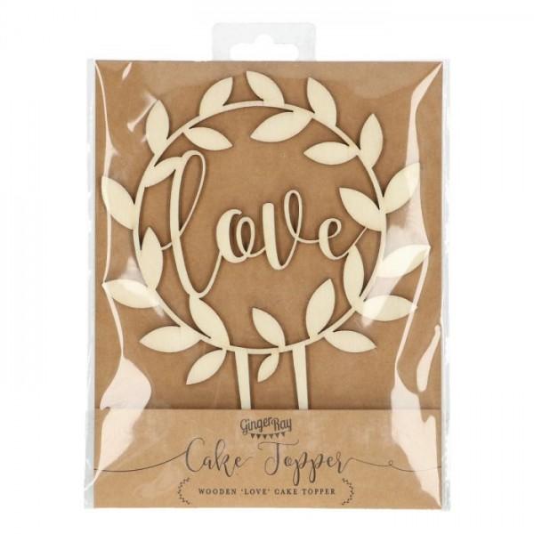 Topper 'Love' aus Holz