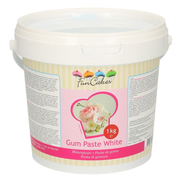 Blütenpaste / Gum Paste weiß 1 kg - NEU!