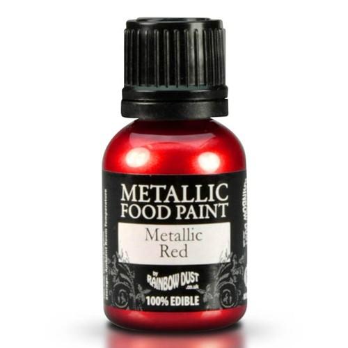 RD Metallic Food Paint Metallic Red