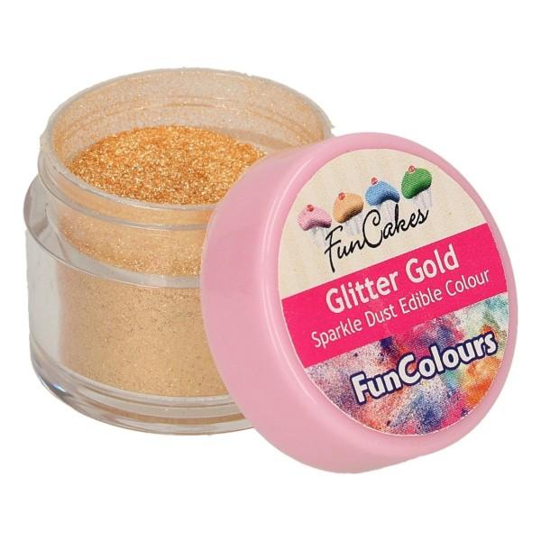 FunColours Glanzpuderfarbe - Glitter Gold