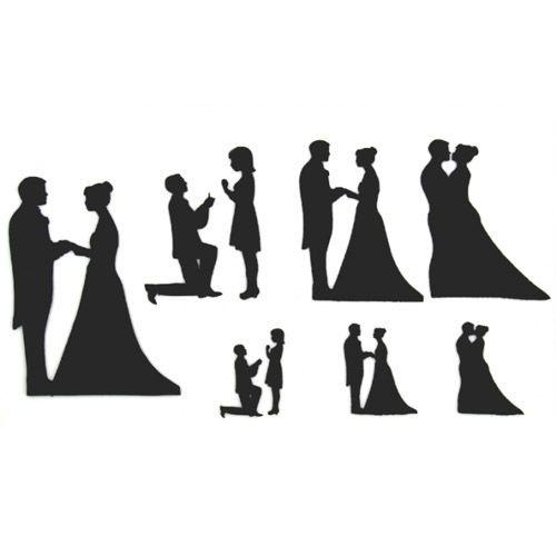 Hochzeit Brautpaar Silhouette Set