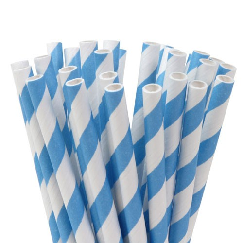 Lollipop Sticks gestreift blau