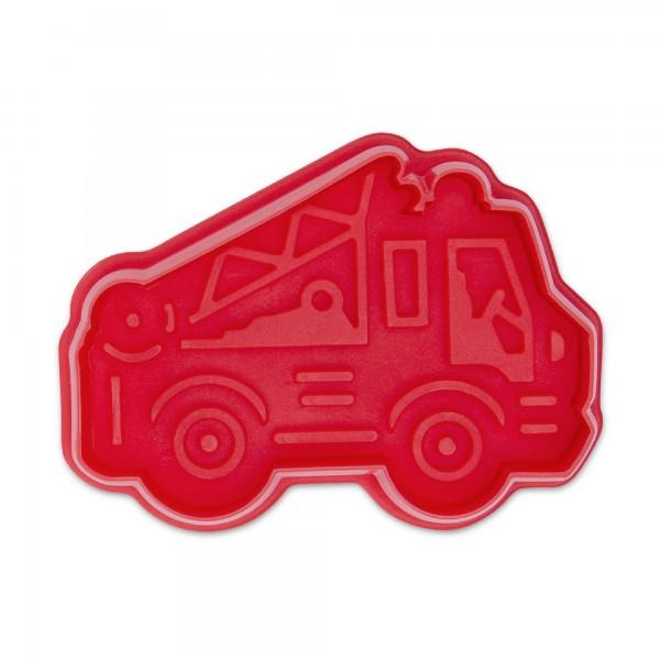 Prägeausstecher Feuerwehrauto mit Auswerfer