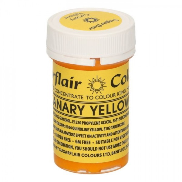 Sugarflair Speisefarben-Paste Canary Yellow 25g
